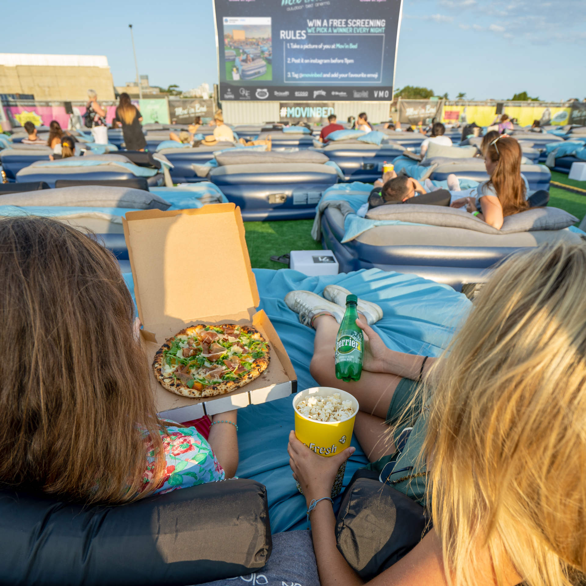 Brisbane's First Outdoor Bed Cinema